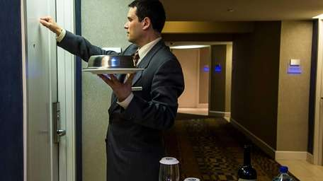 Room service delivery at the Allegria hotel in