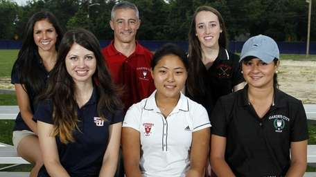 The 2013 All-Long Island Girls Golf Team: (front