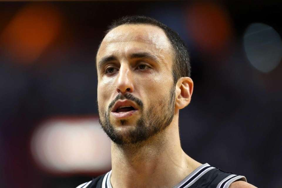 Manu Ginobili of the San Antonio Spurs looks