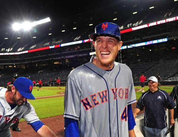 Zack Wheeler of the Mets smiles after being