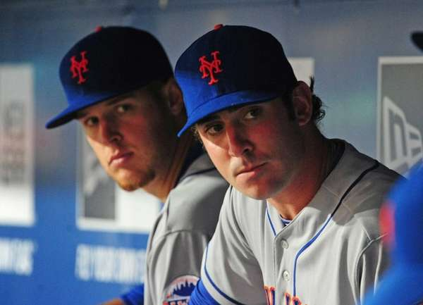 Zack Wheeler and Matt Harvey of the Mets