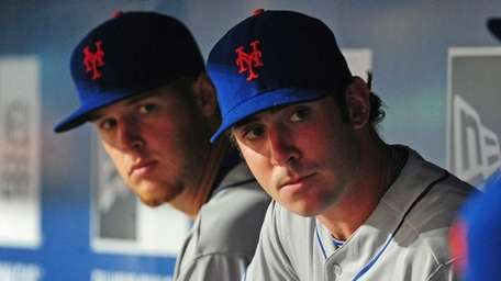 Zack Wheeler and Matt Harvey of the Mets