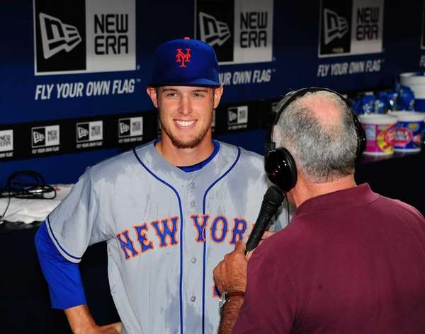 Zack Wheeler of the Mets is interviewed after