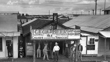 The oil boom town of Freer, Texas, in