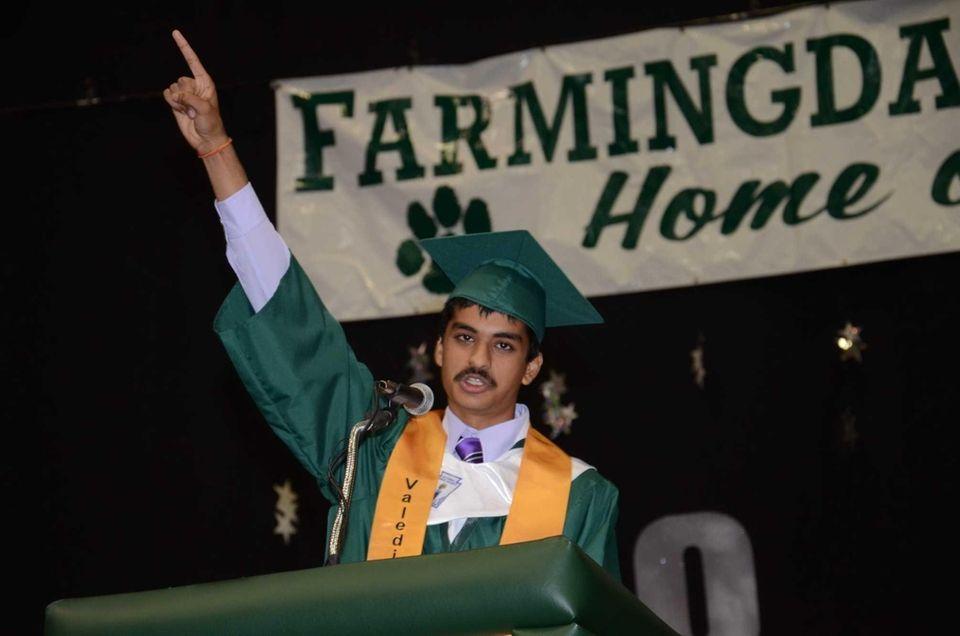 Farmingdale High School's 2013 valedictorian Nakul Gupta, 17,