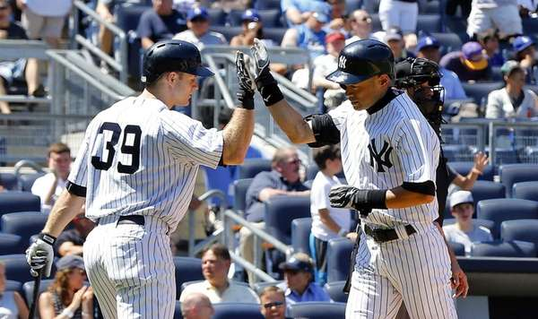 Ichiro Suzuki of the Yankees celebrates his sixth