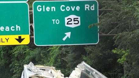 A tractor trailer smashed into the Hillside Avenue