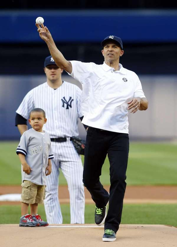 Nets head coach Jason Kidd, with his son