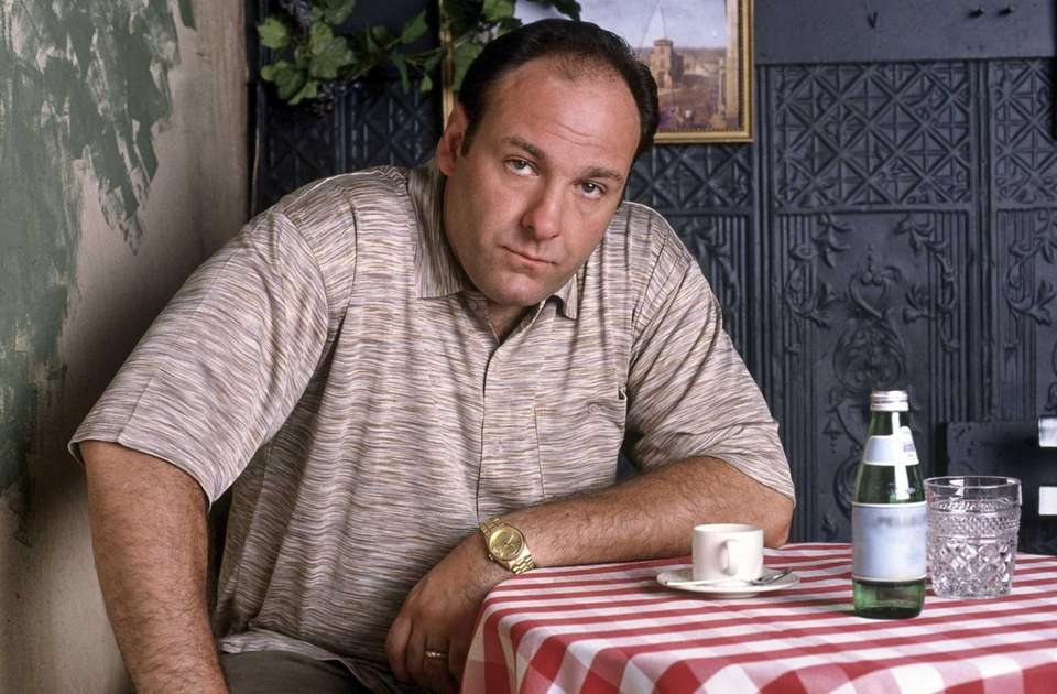 James Gandolfini, as mob boss Tony Soprano, in