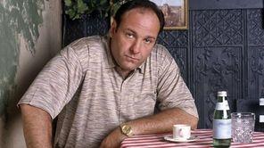 James Gandolfini, as mob boss Tony Soprano, in