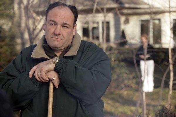 James Gandolfini as Tony Soprano in a scene