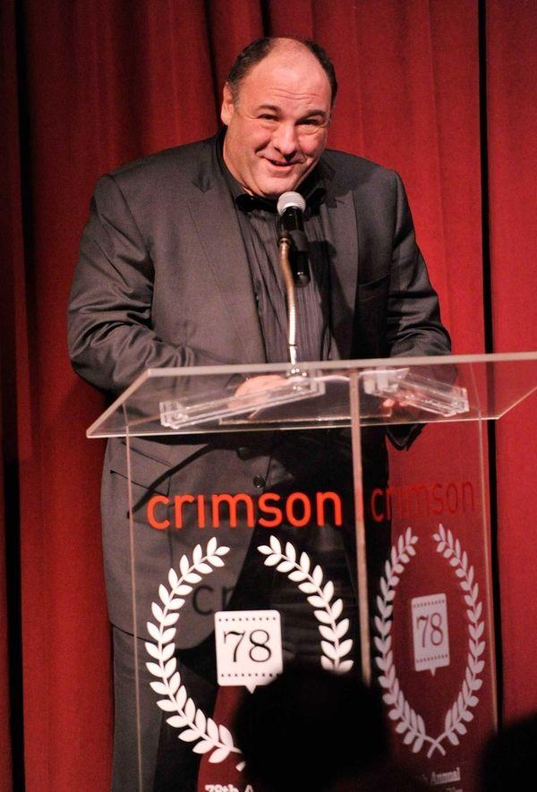 James Gandolfini speaks onstage at the 2012 New