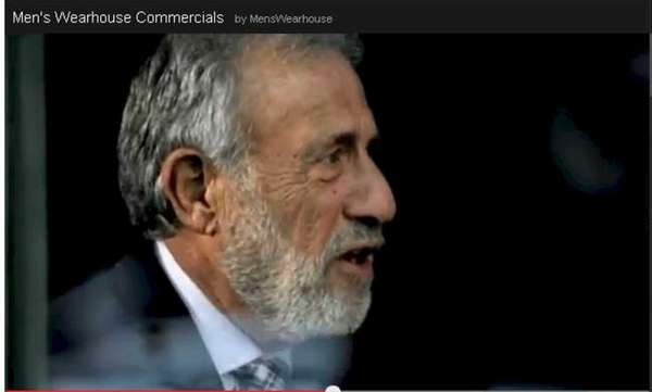 George Zimmer in a Men?s Wearhouse TV ad.