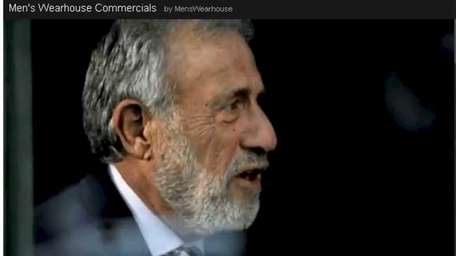 George Zimmer in a Men's Wearhouse TV ad.