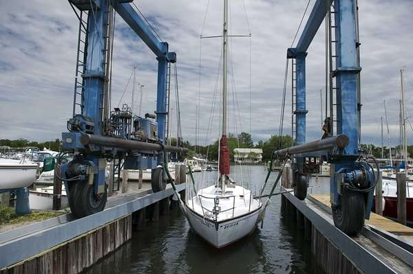 A sailboat ready for the summer at Frank