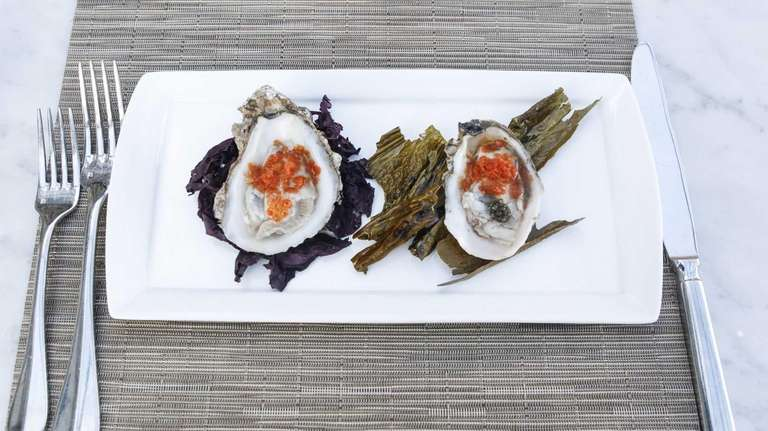 Chesapeake Bay oysters on the half shell are