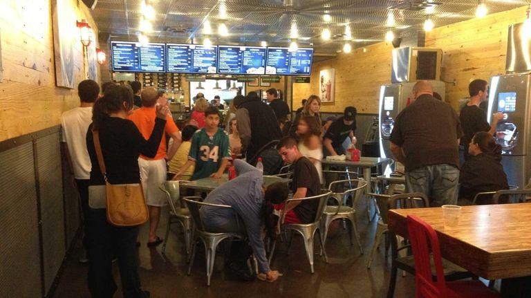 The new BurgerFi in Woodbury draws a big