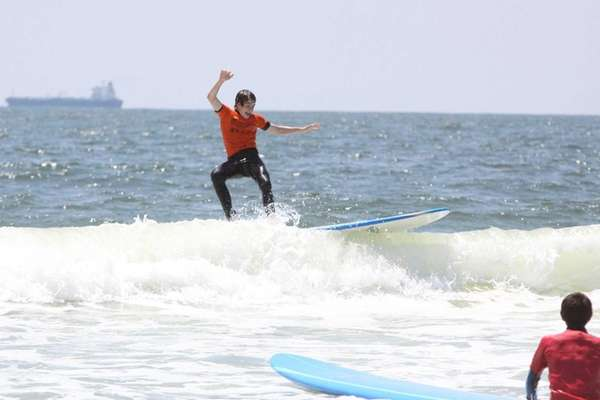 Andrew Adelhardt of Port Washington, 15, rides a