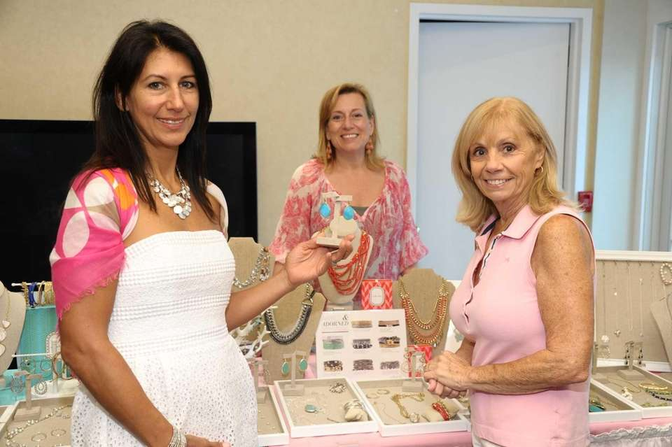 Diana Ziv, Cindy Brahms and Ann Haselkorn attend