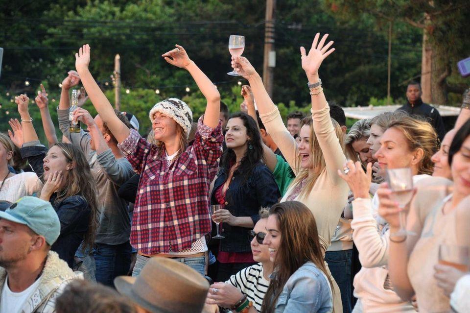 Crowds enjoy the sounds of Django Django at