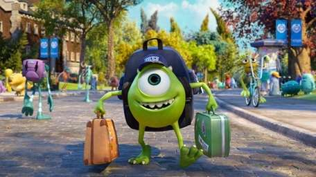 Mike Wazowski, voiced by Billy Crystal in a
