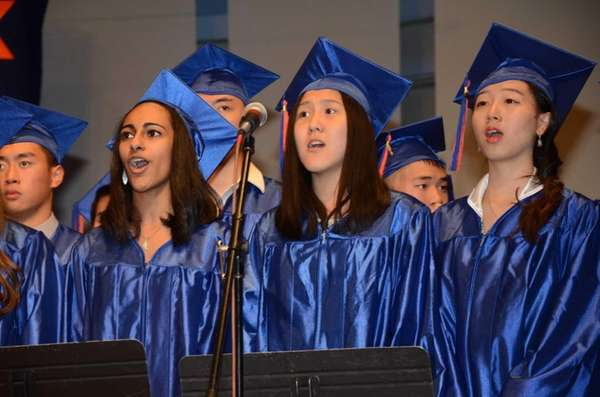 Great Neck South High School's senior choir sings