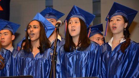 Great Neck South High School's senior choir sings