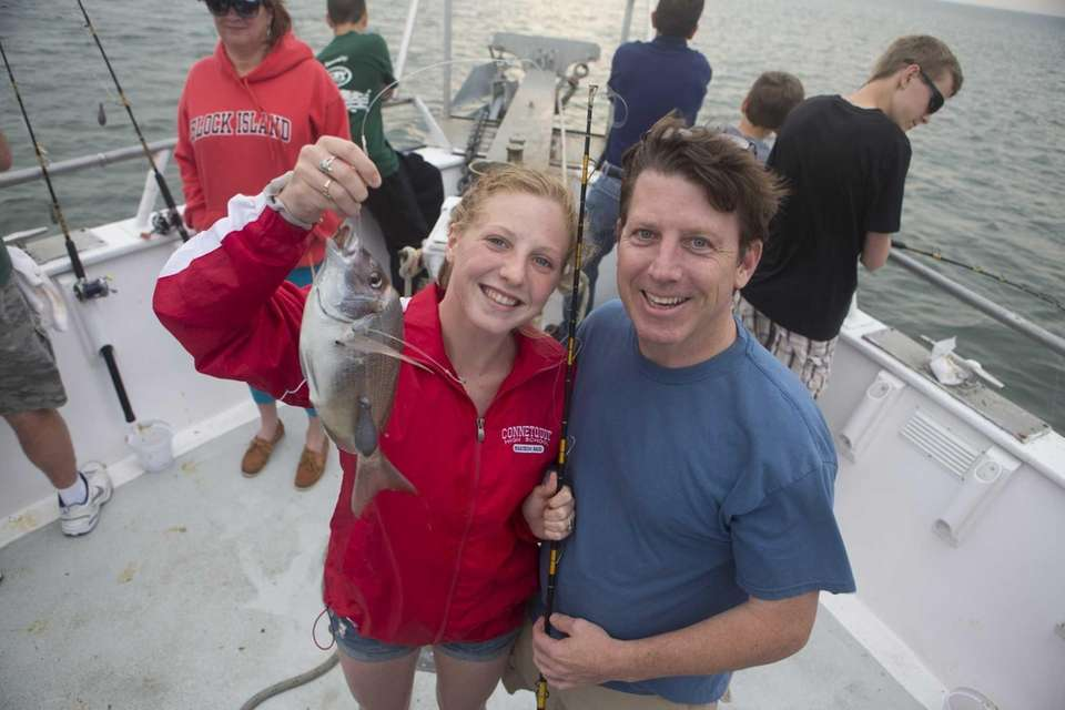 Tom Dolan and daughter Catherine Dolan of Oakdale