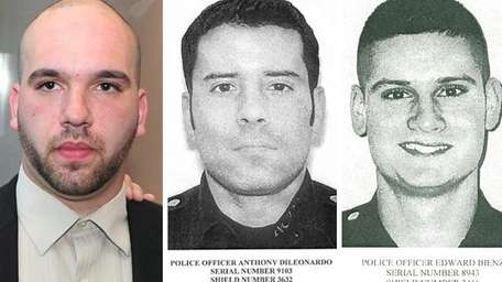 Cabdriver Thomas Moroughan, Nassau police officer Anthony DiLeonardo