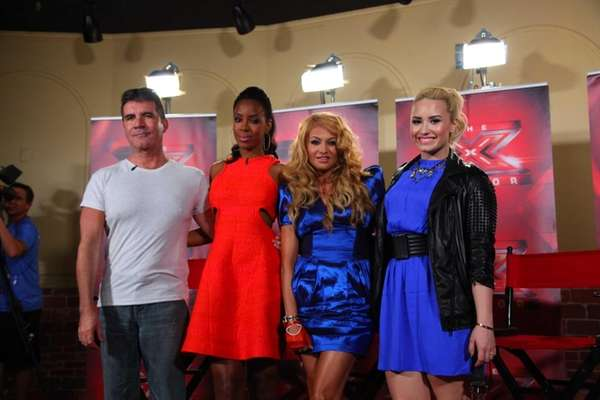 """X Factor"" judges Simon Cowell, from left, Kelly"