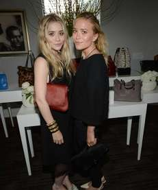 Mary-Kate and Ashley Olsen celebrate the launch of