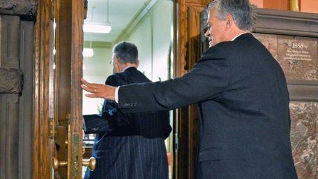 Assembly Speaker Sheldon Silver, left, and Senate Republican