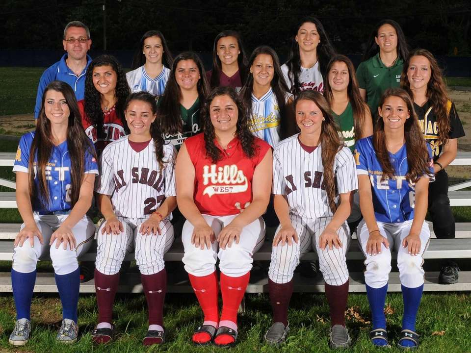 The 2013 Newsday All-Long Island softball team. Front