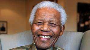 Former South Africa President Nelson Mandela in this