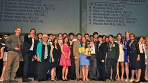 Ward Melville's team, above, placed fifth in the