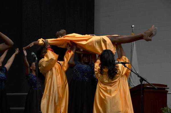 "Uniondale High School's Show Choir performed ""Wings"" during"