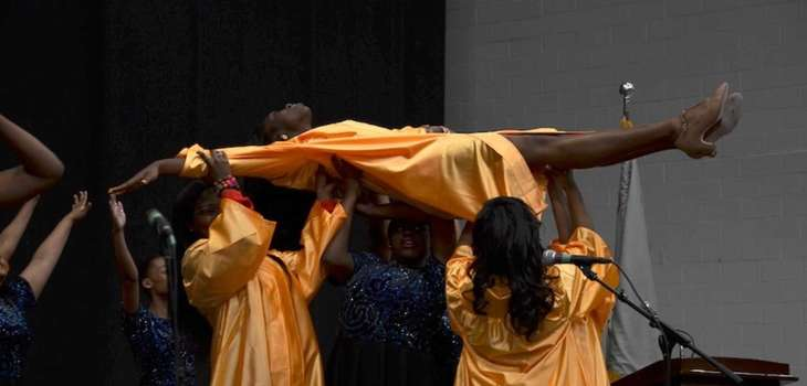 Uniondale High School's Show Choir performed quot;Wingsquot; during
