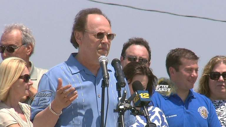 Actor Billy Crystal was in his hometown of