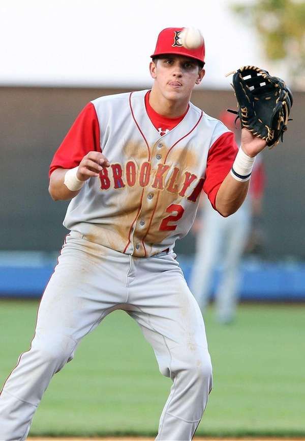 Cyclones' Gavin Cecchini throws the ball around infield