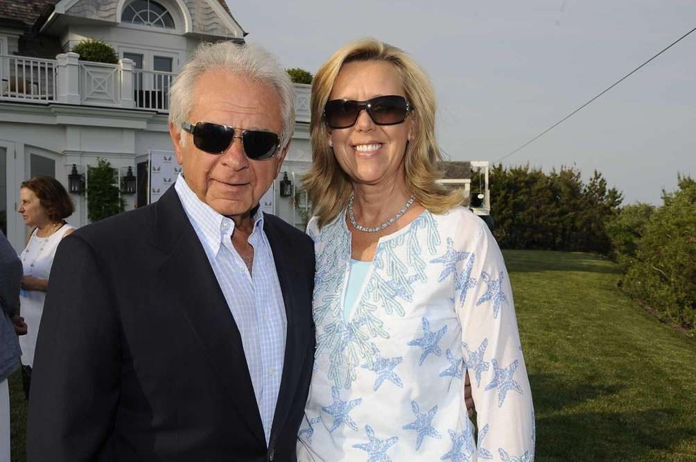 John Kanas and his wife Elaine are seen