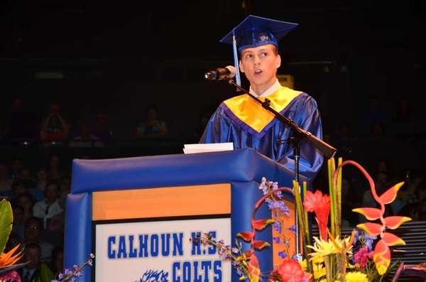 Cancer survivor and 2013 Calhoun High School graduate