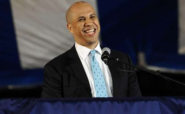 Newark Mayor Cory Booker delivers the main address