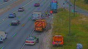A traffic camera image shows remaining interruptions on