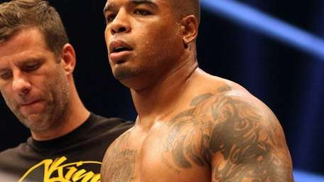 Tyrone Spong waits for the start of the