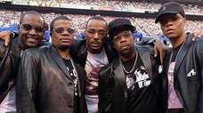Bobby Brown and two friends began singing together