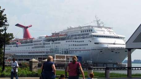 The cruise liner Carnival Fantasy calls in Charleston,
