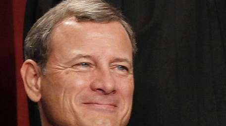 Chief Justice John G. Roberts is seen during