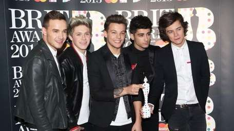 From left, Liam Payne, Niall Horan, Louis Tomlinson,