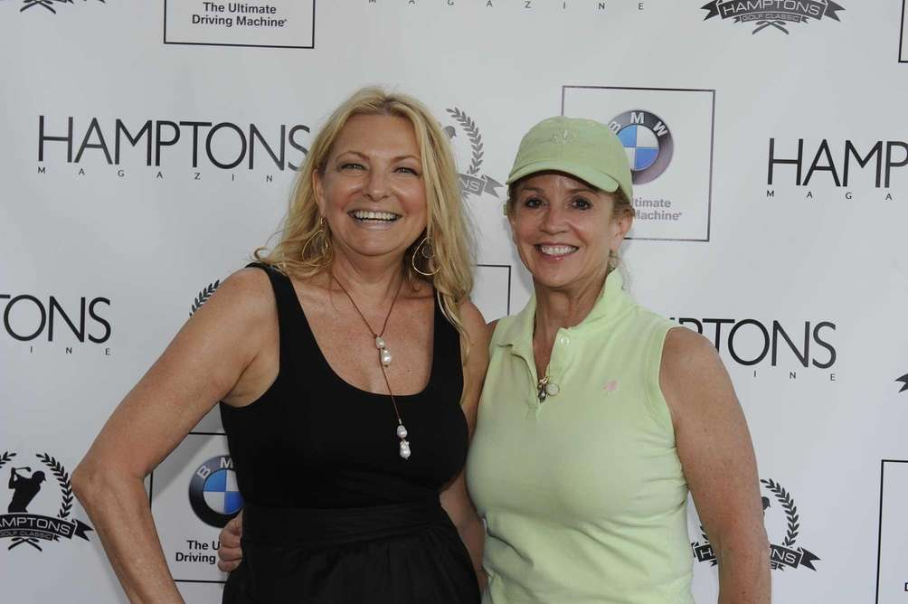 Hamptons Magazine publisher Debra Halpert and newswoman Jane