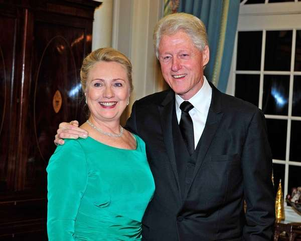 Hillary Clinton and former U.S. President Bill Clinton